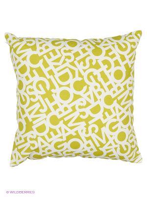 Подушка Alba Green T&I. Цвет: бежевый, салатовый