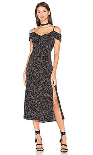 Платье миди hotline Yumi Kim. Цвет: black & white