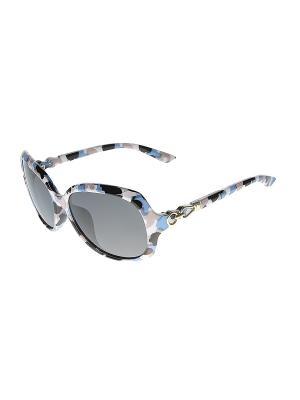 Солнцезащитные очки Happy Charms Family. Цвет: голубой, бежевый, белый, черный