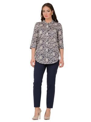 Блузка PROFITO AVANTAGE. Цвет: темно-синий, кремовый