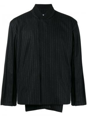 Куртка-бомбер  в тонкую полоску Lot78. Цвет: чёрный