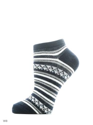 Носки, 3 пары Oodji. Цвет: серый, темно-синий