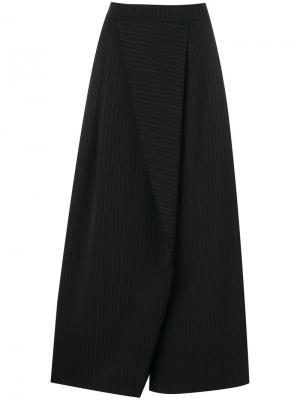 Широкие асимметричные брюки Antonio Marras. Цвет: чёрный