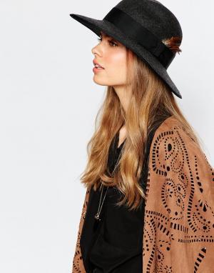 Christy's Фетровая шляпа с широкими полями Christys Madison. Цвет: темно-серый
