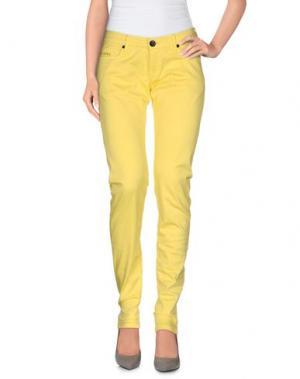 Повседневные брюки 0/ZERO CONSTRUCTION. Цвет: желтый