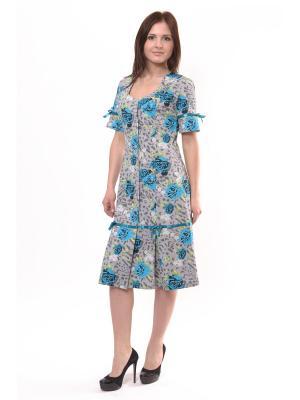 Платье-халат из трикотажа Тефия