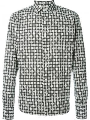Рубашка с геометрическим принтом Gabriele Pasini. Цвет: чёрный