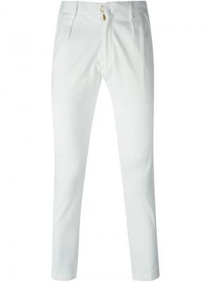 Укороченные брюки облегающего кроя Patchy Cake Eater. Цвет: белый