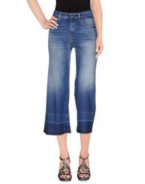 Джинсовые брюки-капри KAOS JEANS. Цвет: синий