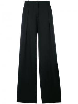 Широкие брюки Tomas Maier. Цвет: чёрный