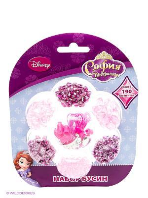 Набор бусин  Disney софия, более 190 деталей, подвески Multiart. Цвет: розовый