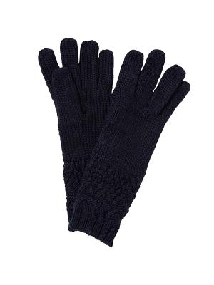 Перчатки TOM TAILOR. Цвет: темно-синий