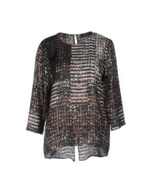Блузка ANTONELLI. Цвет: стальной серый