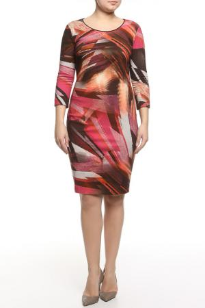 Платье CLASS ROBERTO CAVALLI. Цвет: красный, фиолетовый