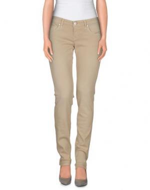 Джинсовые брюки ACHT. Цвет: бежевый