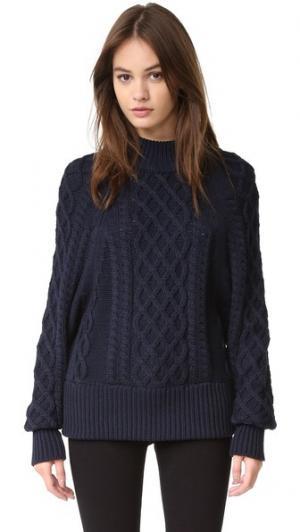 Вязаный свитер Lauren FAITHFULL THE BRAND. Цвет: темно-синий