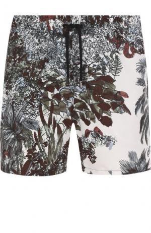 Плавки-шорты с принтом Brioni. Цвет: оливковый