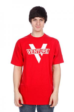 Футболка  Vlogo Red/White Venture. Цвет: красный