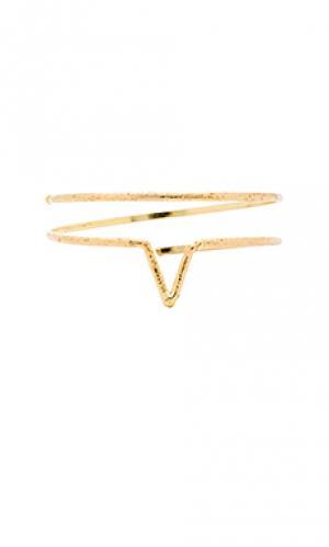 Оборачивающийся браслет wanderer Natalie B Jewelry. Цвет: металлический золотой