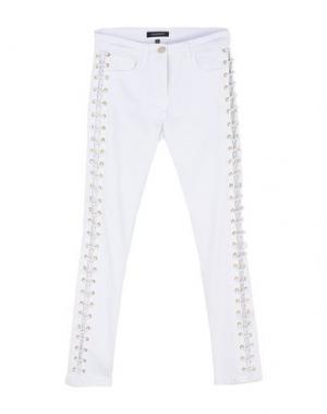 Джинсовые брюки ALMAGORES. Цвет: белый