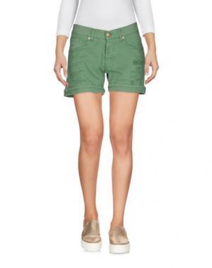 Джинсовые шорты 2W2M. Цвет: зеленый-милитари