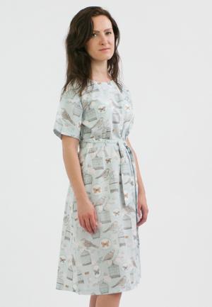 Платье Monoroom. Цвет: голубой