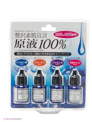 JAPAN GALS Pure beau essence Сыворотка пробный набор 10 мл*4. Цвет: темно-синий