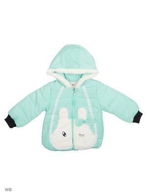 Куртка Happy Bear. Цвет: бирюзовый, светло-голубой, светло-зеленый