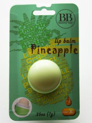 Бальзам для губ Beauty Bar с ароматом ананаса (блистер). Цвет: зеленый