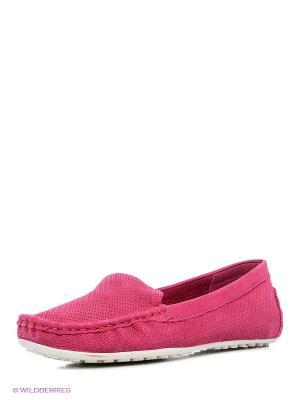 Мокасины BRULLOFF. Цвет: розовый