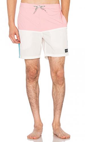 Шорты для плавания 17 classic Barney Cools. Цвет: розовый