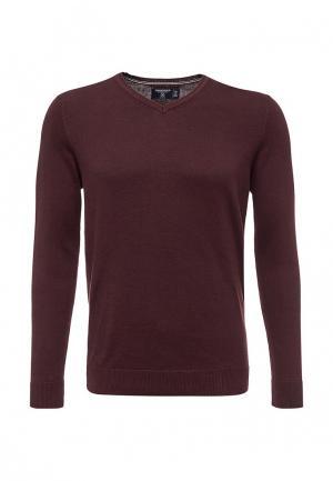 Пуловер Springfield. Цвет: бордовый
