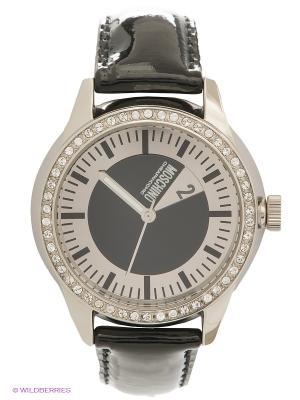 Часы MOSCHINO. Цвет: черный, серебристый