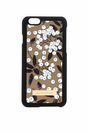 Кожаный чехол для iPhone 6 Plus Alexander Terekhov. Цвет: рябина на коричневом фоне