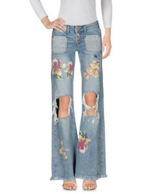 Джинсовые брюки ONE x ONETEASPOON. Цвет: синий