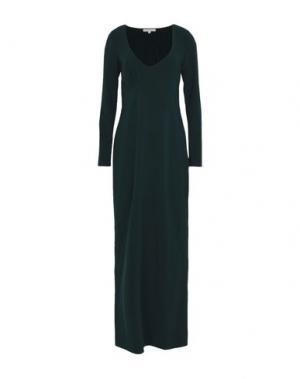Длинное платье PATRIZIA PEPE. Цвет: темно-зеленый