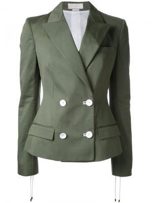 Двубортный пиджак Monse. Цвет: зелёный