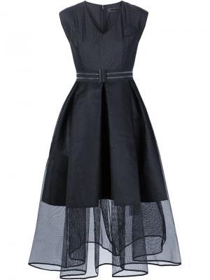 Платье с пышной юбкой из тюля Xiao Li. Цвет: чёрный