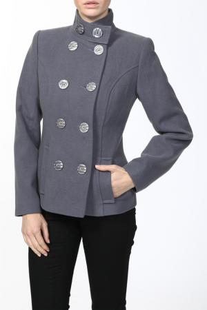 Пальто World Style. Цвет: серый