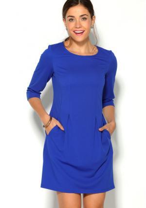 Платье Venca. Цвет: синий (королевский синий)