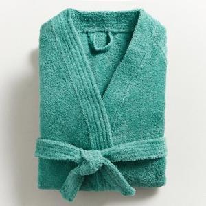 Халат с воротинком-кимоно 450 г/м², качество Best La Redoute Interieurs. Цвет: белый,зелено-синий,розовая пудра,серо-синий,синий морской,темно-серый