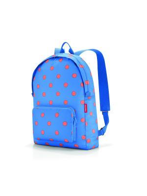 Рюкзак складной Mini maxi azure dots Reisenthel. Цвет: синий, оранжевый