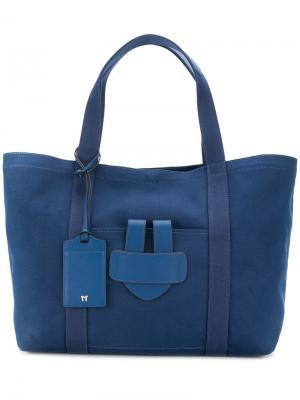 Большая сумка-тоут Simple Tila March. Цвет: синий