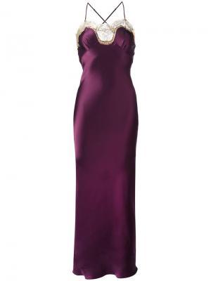 Длинная комбинация Gina Gilda & Pearl. Цвет: розовый и фиолетовый