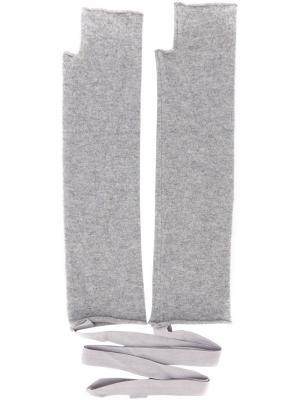 Перчатки No. 14 Extreme Cashmere. Цвет: серый