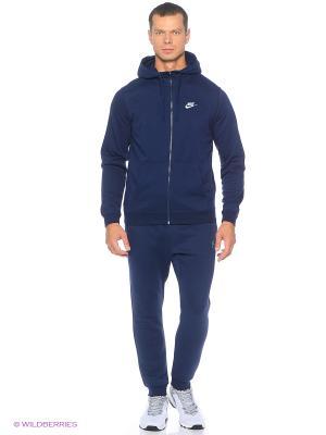 Толстовка M NSW HOODIE FZ FT CLUB Nike. Цвет: синий