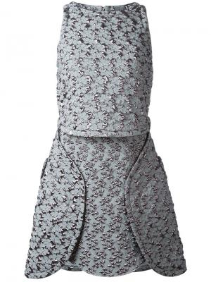 Фактурное платье Antonio Berardi. Цвет: серый