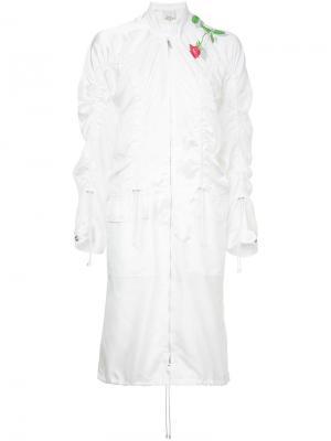Пальто в стиле куртки-бомбера 3.1 Phillip Lim. Цвет: белый
