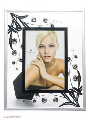 Фоторамка Floral 3 VELD-CO. Цвет: черный, серый
