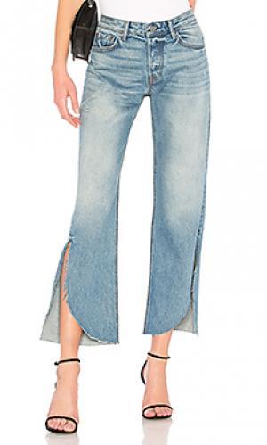 Широкие брюки jeans GRLFRND. Цвет: none